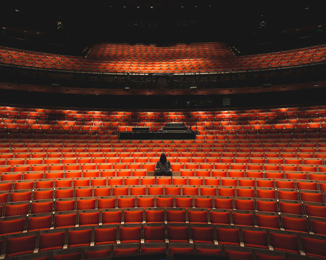 Alone Ballet Chairs Cinema Concert Empty Hall Scary Show Stadium Stage Stage Fright Theatre