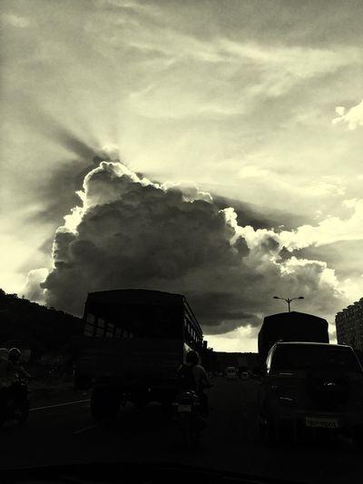 Evening Sky Cloud - Sky Outdoors Nature Amazingnature Crazyclimatelol Beautiful Nature Stunned Drivingclick
