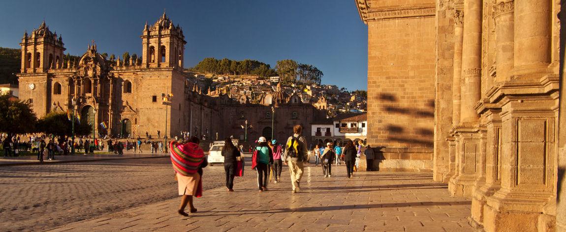 Afternoon Ancient Architecture Church Cuzco Incas Peru Quechua Tower Travel Destinations World Heritage