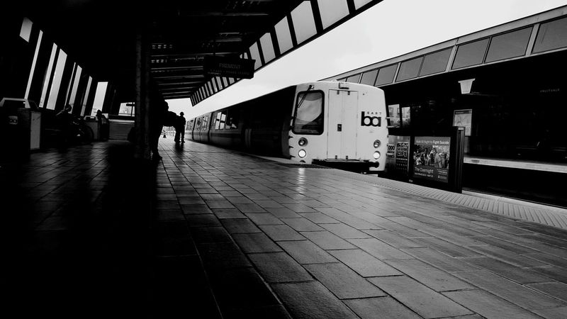 Blavk And White Bart Station Blackandwhite Street Photography Streetphotography Train Station Trainphotography