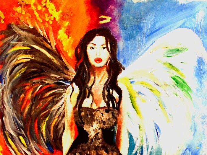 My fallen angel. We all have made regretable decisions which inspired me to paint this.