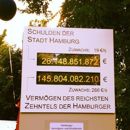 schulden vs. vermögen in #hamburg. Hamburg