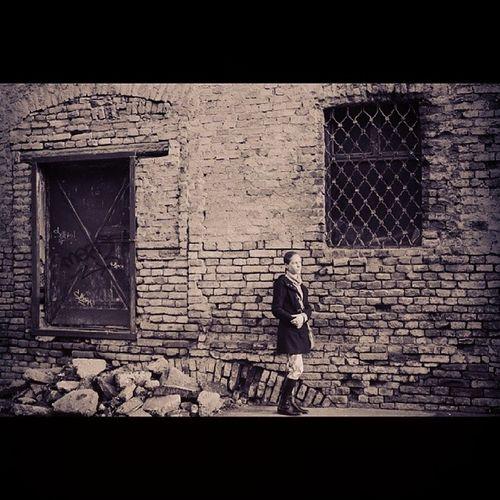 My Girlfriend Standing Next to the window in old Zemun Belgrade Serbia Praktica analog camera blackandwhite photo