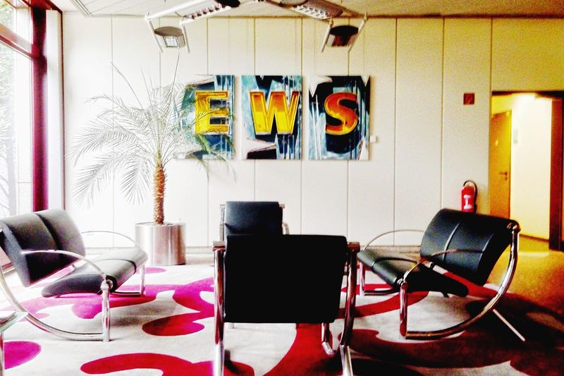 Interior Design Interior Palm Trees 80s Colorful Business Lounge