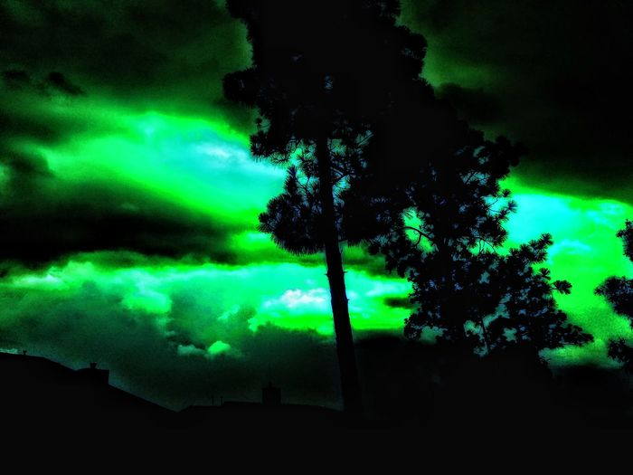 Adobe-Creations Greennight Exposure+++Green Silhouette Scenics Cloud - Sky Tranquility Dramatic Sky Landscape Power In Nature Aurora Polaris Astronomy Night Outdoors Beauty In Nature Lost-Gems