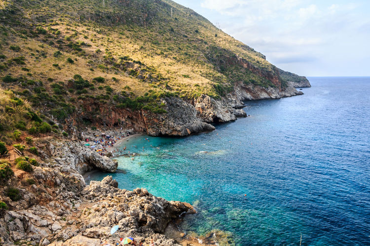 Italia Sicilia Sicily Sicily, Italy Beach Beauty In Nature Canon Cliff Day Horizon Over Water Idyllic Italy Land Nature No People Outdoors Rock Rock Formation Rocky Coastline Scenics - Nature Sea Sky Tranquil Scene Tranquility Water