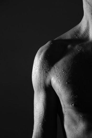 Man Black Background Studio Shot Females Beauty Human Face Human Skin Shirtless Shoulder Skin Pretty Chest