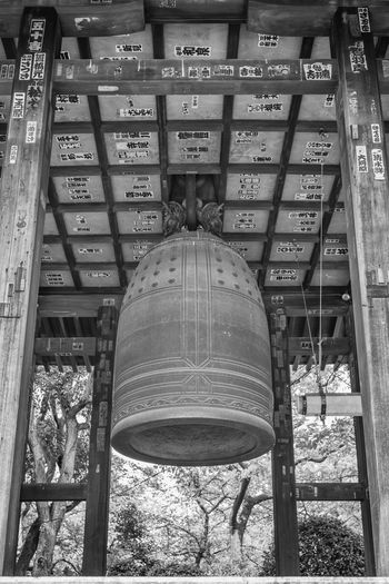 Zojo Ji Shrine Architecture Bell Blackandwhite Built Structure Day Japan Japanese  Low Angle View Religion Religions Shrine Tokyo Tokyo Tower Tokyo Tower Tower Zojojitemple Fine Art Photography