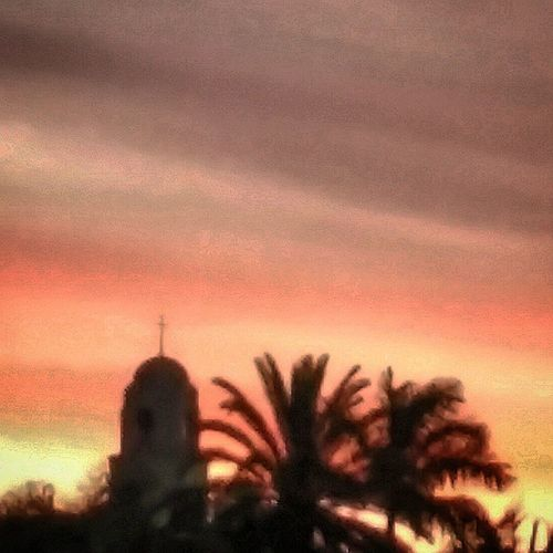 Sunset Churchspire Palmtrees Perthlife