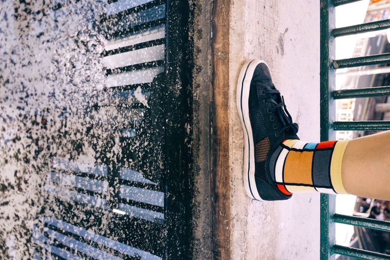 Shadow Water Reflections Colorful Socks Equilibrium Minimal Causeway Bay Out Of The Box