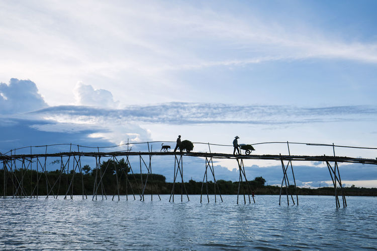 Bamboo bridge Beauty In Nature Photography Sunset And Clouds  Vietnamphotography Vietnamtravel