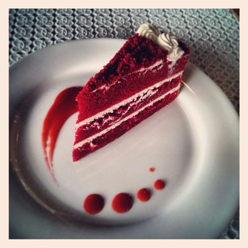 Need a red velvet cake and a molecular drink after that intense movie! To get me back to the real world!
