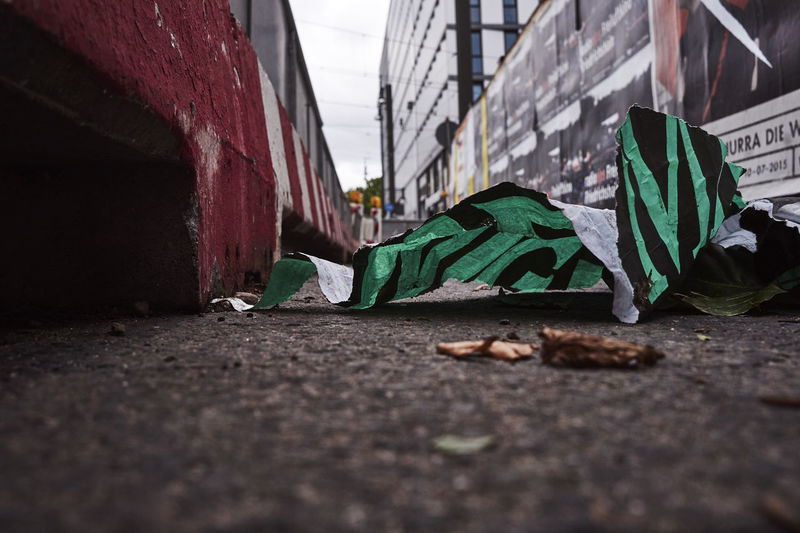 Fallen paper on street