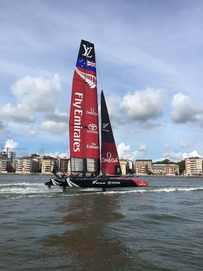 AMC America's Cup Boat Catamaran Emirates Fly Emirates Gothenburg Sailing Sweden