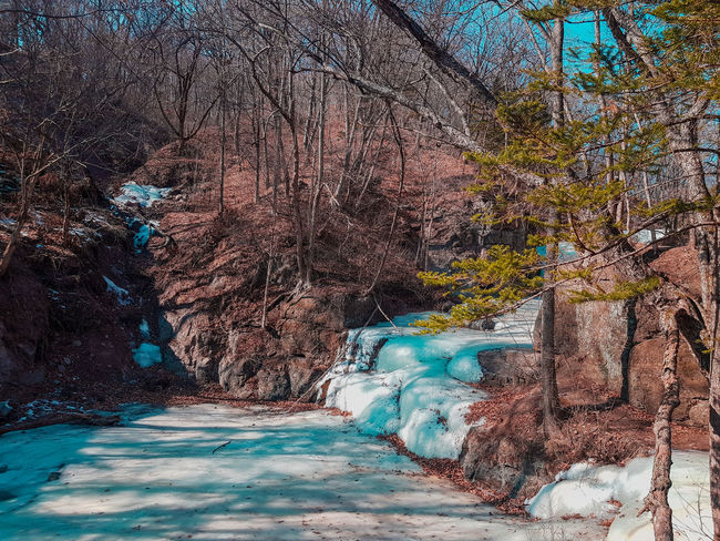 Explore Exploring Winter Trip Ice River Cold Temperature Waterfall Rock Art And Craft Graffiti Abstract Paint Textured  Backgrounds Full Frame Painted Image Spraying Ink Day No People Powder Paint Outdoors Close-up EyeEmNewHere Colour Your Horizn Go Higher