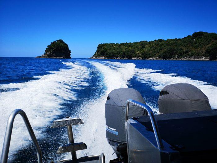 Te Whanganui a Hei Marine Reserve Newzealand Whitianga Coromandel Water Nautical Vessel Clear Sky Sea Beach Blue Summer Sky Wake - Water Horizon Over Water Motorboat