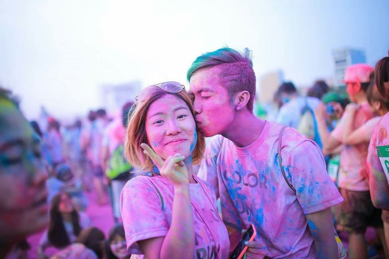 Relaxing Colorful Colorsplash Color Me Run Kissing RePicture Friendship Festival Canon6d Young And Wild RePicture Travel