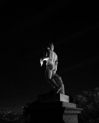 Museo Nacional De Arte De Cataluña Montjuic Barcelona Barcelona, Spain España🇪🇸 SPAIN Statue Human Representation Sculpture Art And Craft Male Likeness Low Angle View Outdoors No People Fine Art Statue Sky Night