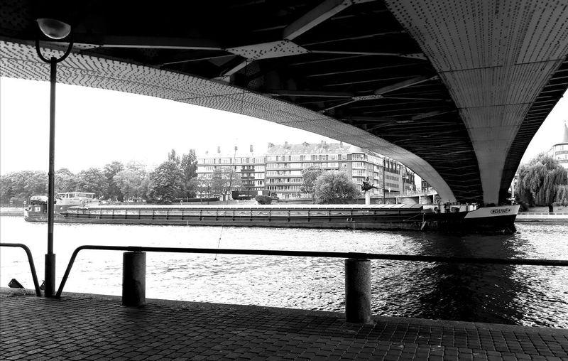 Photoshoot Boat Water City Bridge - Man Made Structure Architecture Sky Built Structure Underneath Chain Bridge Girder Covered Bridge Arch Bridge River