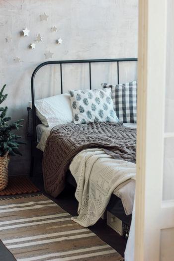 Empty chair in bedroom