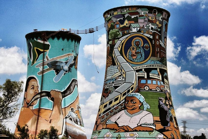 Orlando Towers Johannesburg Soweto Towers Soweto Graffiti Artgrafitti  Eye4photography  South Africa EyeEm