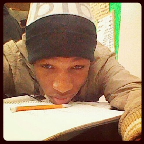 Bored .. doing math work ..