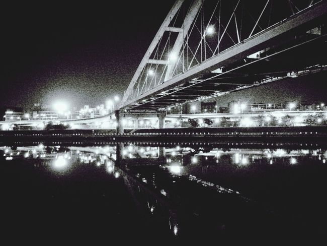 Reflection Black And White Cityscapes Bridge