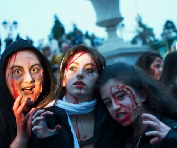 Crowd EyeEm Diversity Focus On Foreground Fun Halloween Lifestyles Togetherness Young Women Zombiewalkathens The Portraitist - 2018 EyeEm Awards The Street Photographer - 2018 EyeEm Awards