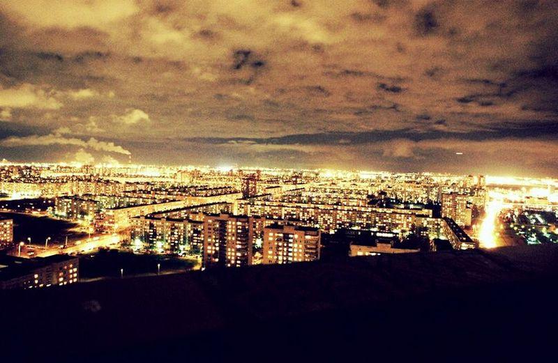 Roof Night City Taking Photos