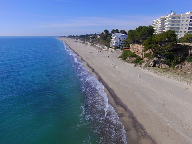 Drone  Miami Platja-Tarragona-Spain Architecture Beach Beauty In Nature Day Drone Photography Nature No People Outdoors Sand Scenics Sea Sky Tranquil Scene Turistic Places Water