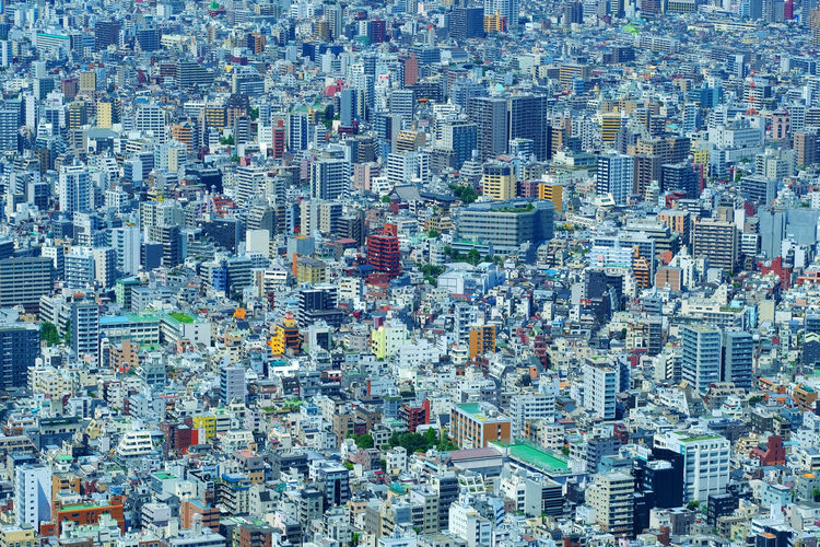 Buildings Cityscape Dense Densely Packed Packed Populous Tokyo Tokyo,Japan Urban A Bird's Eye View