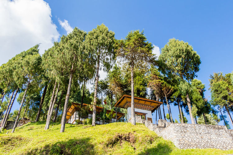 ASIA Travel Architecture Bhutan Building Building Exterior Built Structure Cloud - Sky Green Color Nature Sky Tourism Tranquil Scene Tranquility Travel Destinations Tree