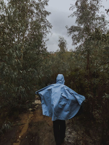 Art Dark Forest Adventure Deep Man EyeEmNewHere Tree Water Rear View Wet Rain Sky Close-up Rainfall Rainy Season Foggy