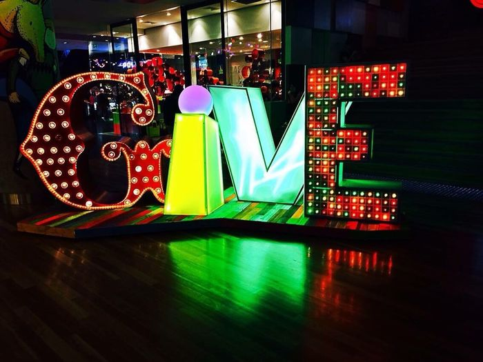 Illuminated Multi Colored Night Text Close-up Neon Colorful Green Color Large Group Of Objects No People