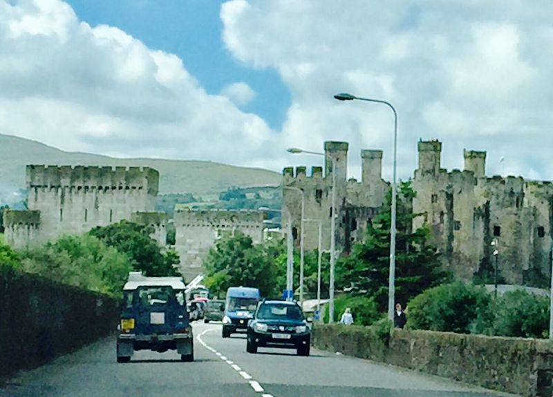 Conwy Castle North Wales Sky Cloud - Sky Car Transportation Mode Of Transport Land Vehicle Day Road Architecture Built Structure Outdoors Mountain No People Tree Nature
