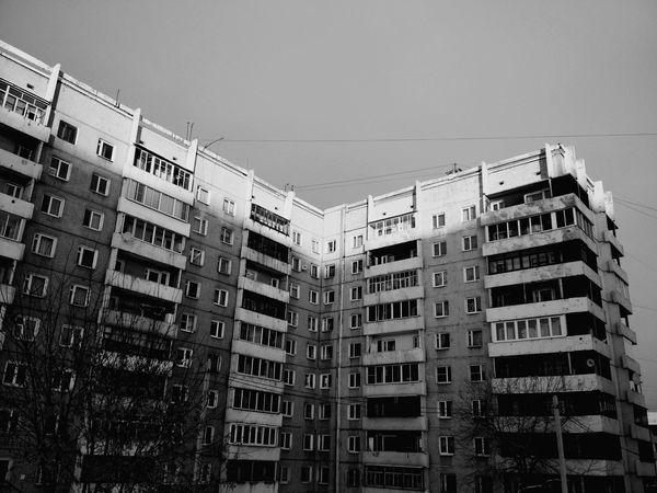 Sky Black Blackandwhite White Building No People Day
