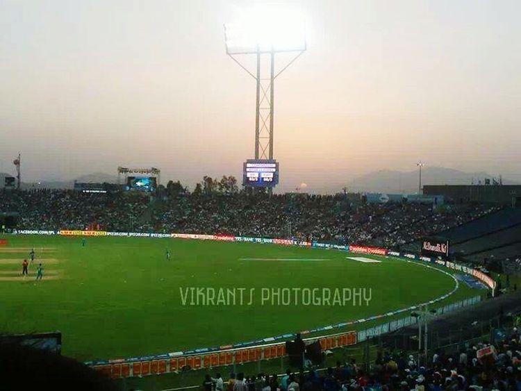 Cricket Ground Sunset Crowd