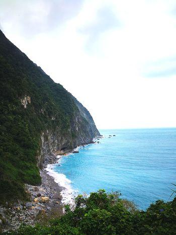 Taroko National Park Taiwan Sea Water Horizon Over Water Beach Nature Beauty In Nature Rock - Object