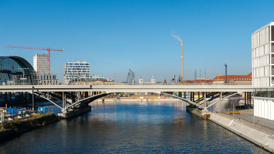 Architecture Bridge - Man Made Structure Business Finance And Industry City Cityscape Cityscape Day Hauptbahnhof Modern No People Outdoors River Sky Skyline Skyscraper Travel Destinations Urban Skyline Water Waterfront