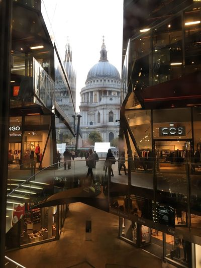 London One New Change St Paul's Cathedral Architecture Built Structure City Real People Reflection Stairs