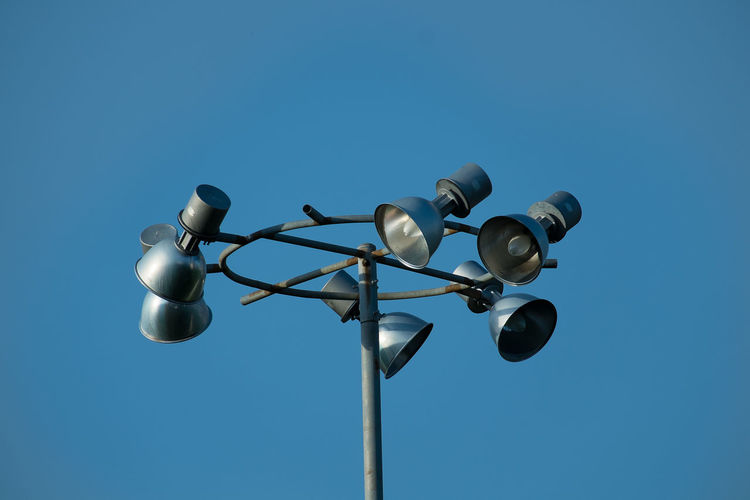 Blue Cable Clear Sky Day Lighting Equipment Low Angle View Nature No People Outdoors Pole Sky Street Light