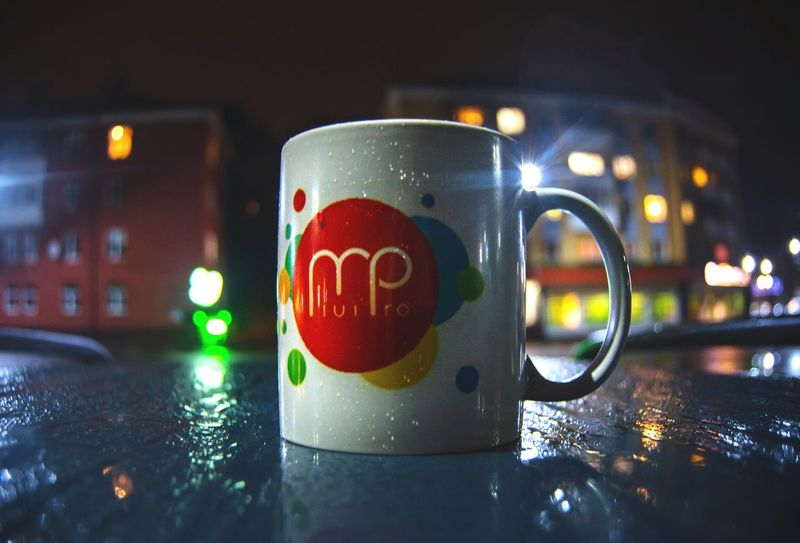 From My Point Of View By Ivan Maximov Eyeem Photo The Week On EyeEm Night Rainy Cup Rainy Evening Night Lights Night City Night Coffee Night Colors City Colors Night City Lights Rain Drops EyeEm Selects Drink Night Wet Drinking Glass No People Water Illuminated Freshness City Defocused