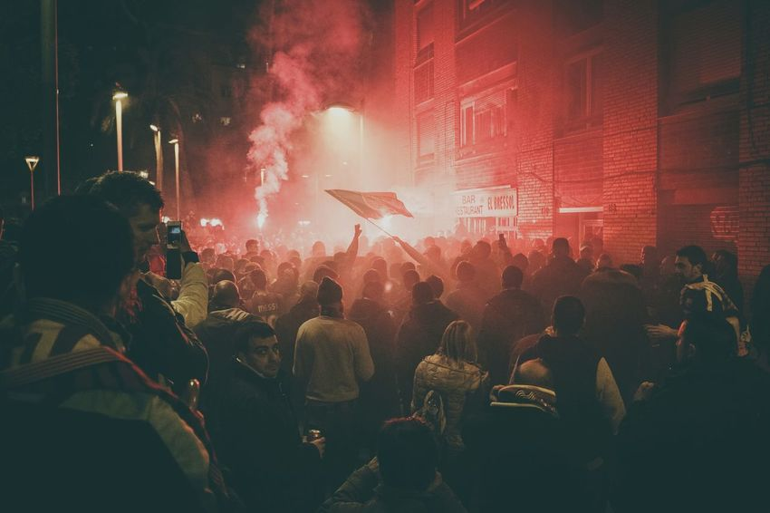 Viscabarca barcelona supporters outside of Campnou during ElClasico2015 Blaugrana The Street Photographer - 2015 EyeEm Awards The Photojournalist - 2017 EyeEm Awards