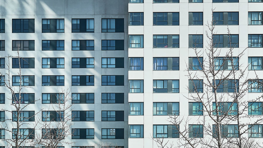 Hector Milla Building Exterior Architecture Built Structure Building Window Full Frame Backgrounds Day No People City Glass - Material Outdoors Residential District Office Building Exterior Apartment Side By Side Low Angle View Nature Office Pattern