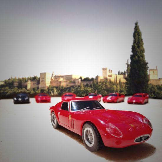 Ferrari Red Car Travel Destinations Alhambra Alhambra De Granada  SPAIN Coches De época Ferrari 250 GT/E