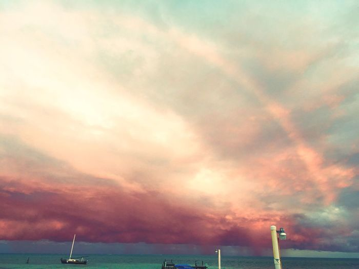Showcase: February first day on the island Water Just Hanging Out I LOVE PHOTOGRAPHY Boat Taking Photos Beach Sunset #sun #clouds #skylovers #sky #nature #beautifulinnature #naturalbeauty #photography #landscape Go Slow