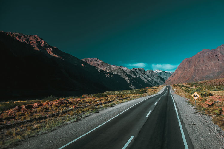 Travel Argentina Asphalt Beauty In Nature Clear Sky Day Dividing Line Highway Landscape Mountain Mountain Range Nature No People Outdoors Road Road Marking Scenics Sky South America The Way Forward Tranquil Scene Tranquility Transportation Winding Road