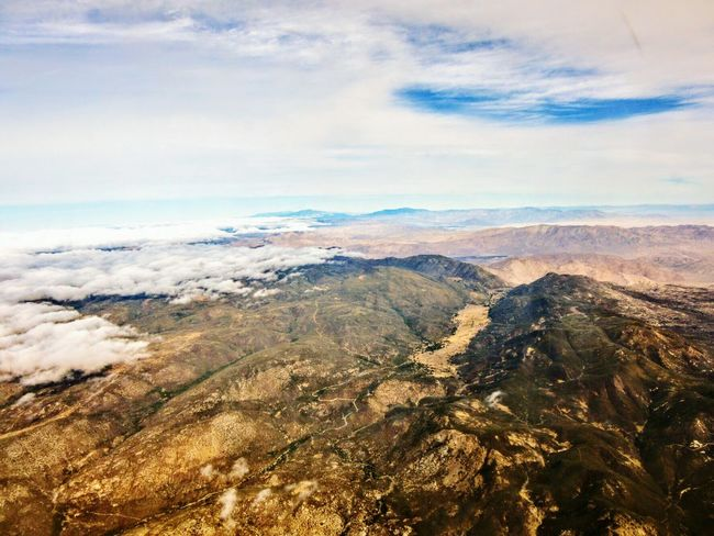 Flying over the Laguna Mountains Southern California Nature Photography Beauty In Nature Aerial Photography Laguna Mountains Mountains Mountain Range Cloud - Sky Scenics Landscape Nature Outdoors Tranquility No People