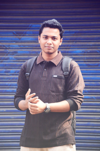 Casual Clothing Erfan EyeEm Best Shots Front View Lifestyles Looking At Camera Men Person Portrait Real People Standing Young Adult Young Men Mirpur Dhaka Bangladesh