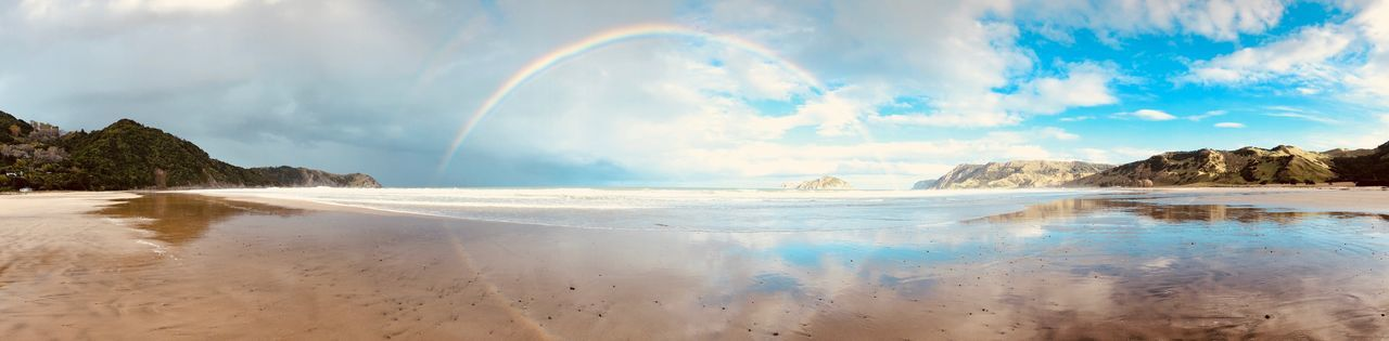 Rainbow Rainbow Sky Water Scenics Nature Sea Cloud - Sky Beauty In Nature